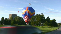 Balloon Landing Stock Footage