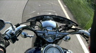 Stock Video Footage of motorcycle handlebars