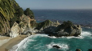 Stock Video Footage of McWay Falls, Big Sur, California