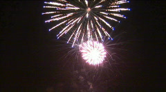 Colorful fireworks in honor of the holiday - free Stock Footage