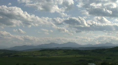 Clouds and foothills, #1 Stock Footage