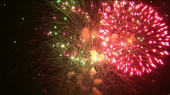 Colorful fireworks in honor of the holiday  - free - stock footage