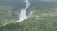 Kaieteur Falls from the air 02 Stock Footage