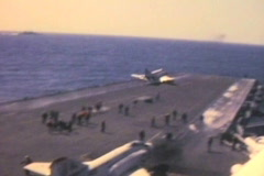 Stock Video Footage of Aircraft carrier jet takeoff