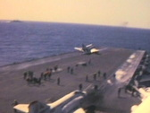 Aircraft carrier jet takeoff Stock Footage