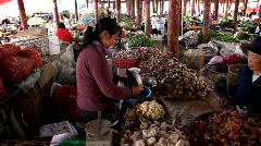 Lijiang Chinese market Stock Footage