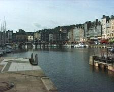Honfleur harbour France Stock Footage