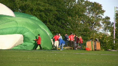 Deflating A Balloon Stock Footage