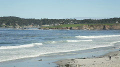 Carmel Beach, California Stock Footage