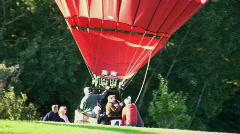 Hot Air Balloon Landing Stock Footage