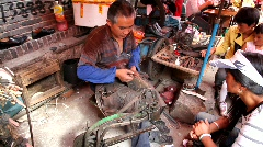 Chinese shoemaker Stock Footage