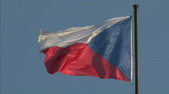 Czech national flag Stock Footage