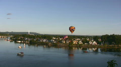 River And Balloon Stock Footage
