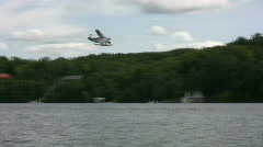 Seaplane flies past. Stock Footage