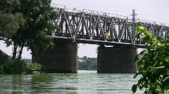 Railway bridge. Stock Footage