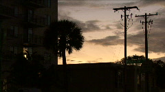 Scenes From Tampa Florida At Dusk Stock Footage
