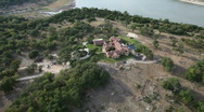 Stock Video Footage of Aerial view of mansion