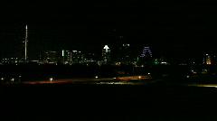 Downtown Austin, Texas Night Stock Footage