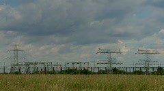 Strom - power station Stock Footage