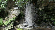 Stock Video Footage of Japanese Garden Waterfall