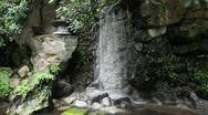 Japanese Garden Waterfall Stock Footage