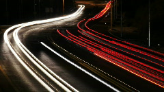 highway at night timelapse - stock footage