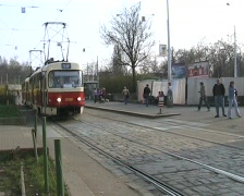 Prague trams. Manual point switching at Palmovka junction Stock Footage