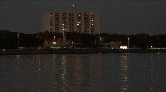 Waterfront Of Tampa Florida At Dusk Stock Footage