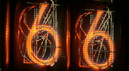 Nixie Tube Numerals Stock Footage