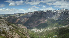 Ouray Colorado Mountain Pan Stock Footage