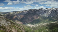 Stock Video Footage of Ouray Colorado Mountain Pan