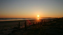 Cape Cod Beach Sunrise - stock footage