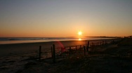 Stock Video Footage of Cape Cod Beach Sunrise