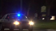 Stock Video Footage of Unmarked Police Car At Night