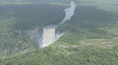 Kaieteur Falls from the air 01 Stock Footage