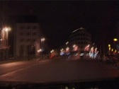 Night driving through a tunnel time lapse Stock Footage