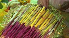 Bundling Incense Sticks Stock Footage