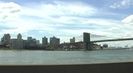 Stock Video Footage of Brooklyn Bridge Manhattan Bridge FDR