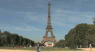 Stock Video Footage of Eiffel Tower on a sunny day