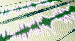 Stock Video Footage of timeline analyzer hd