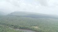 Aerial of Kaieteur Falls from the rear 01 Stock Footage