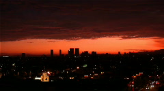 City Skyline Sunset HD Stock Footage