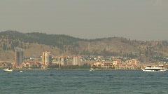 Kelowna skyline and lake, #1 Stock Footage
