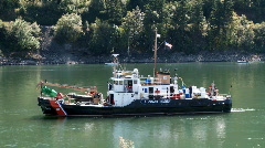 Coast guard buoy tender Stock Footage