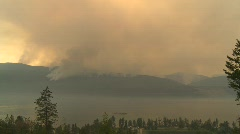 Forest fire, massive forest fire, from several km Stock Footage