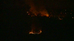 Forest fire, night Stock Footage