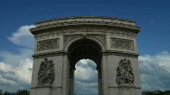 Arc De Triumphe Timelapse 01 (1080p 29.97) Stock Footage
