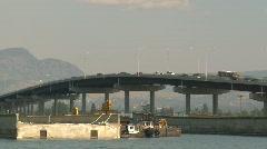 Traffic on big bridge, Kelowna, #3 Stock Footage