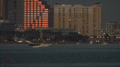 Boats On Tampa's Waterfront Stock Footage