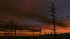 CG Desert Road 01 (1080p 29.97) - stock footage